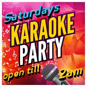 <h2>Saturdays: Karaoke Till 2am</h2>